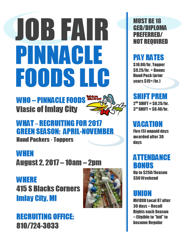Pinnacle Job Fair (Onsite) – GST Michigan Works